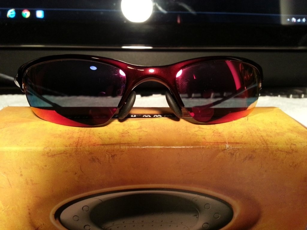 My newest oakleys. Half wires red oxide with red iridium. They are beautiful!