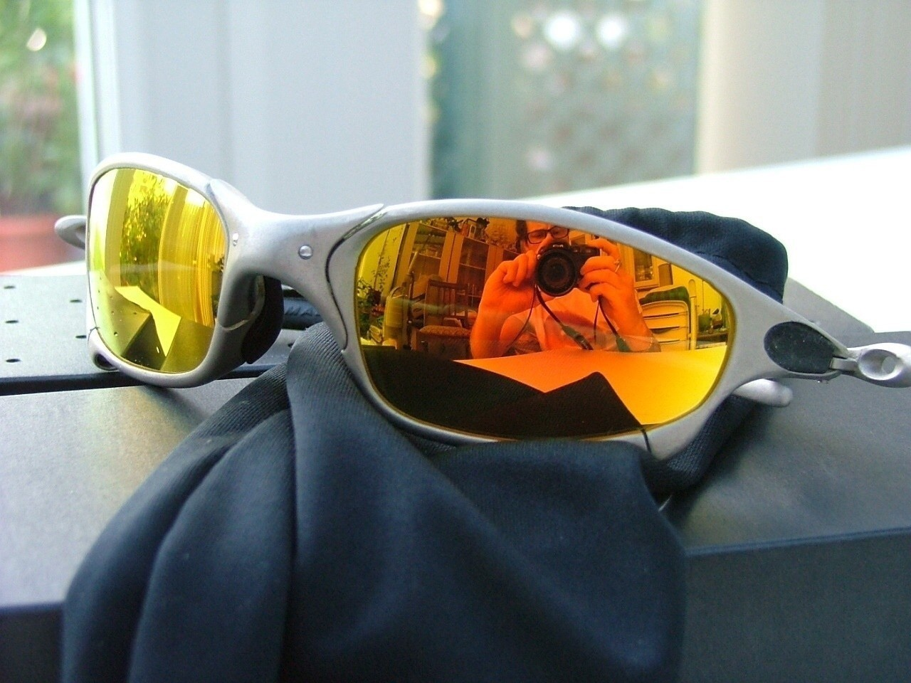 Oakley Juliets  Plasma/Fire.  P071361 My first pair of X-Metals which I still possess. My first...