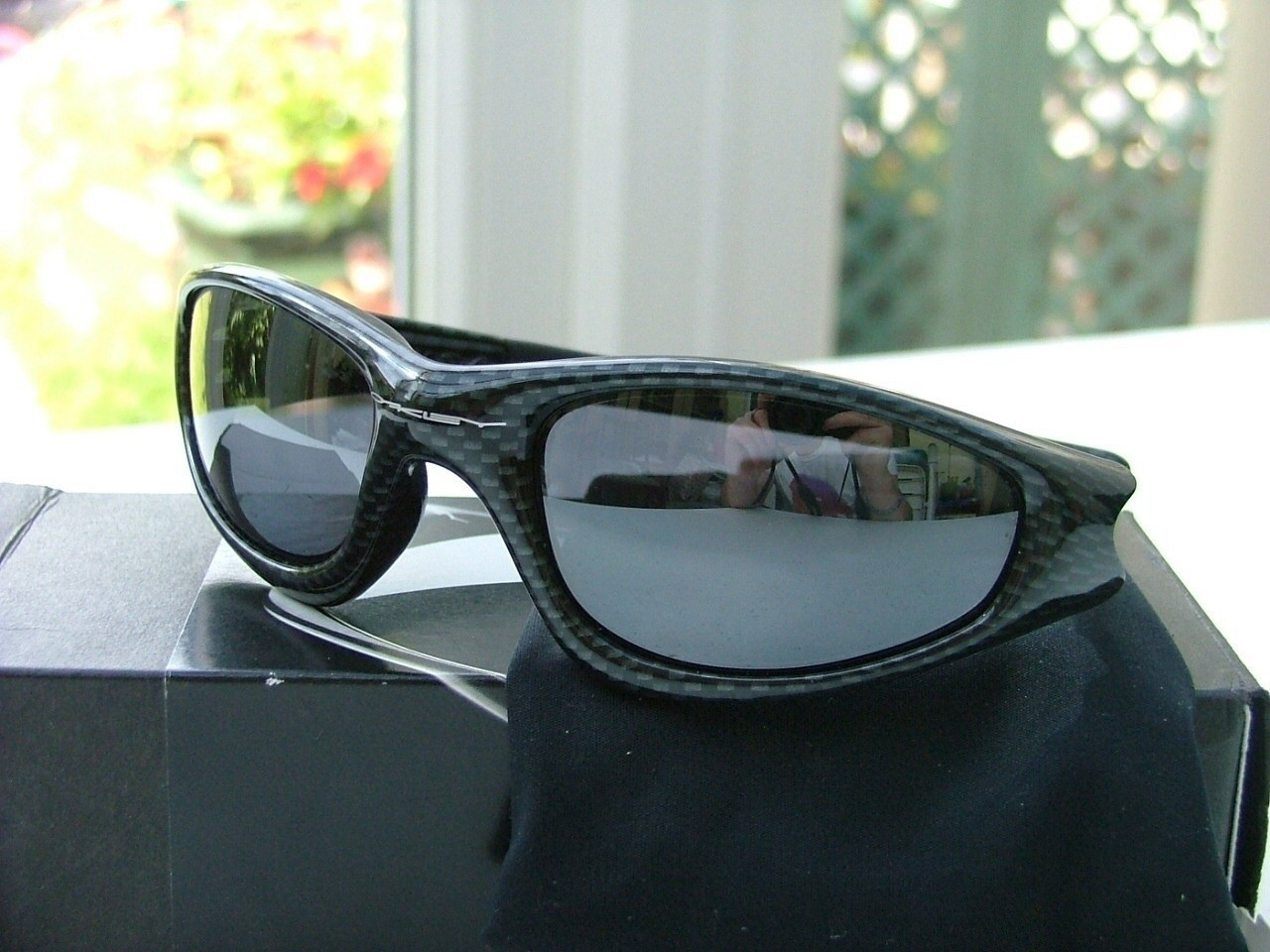 Oakley Straight Jackets Carbon Fibre/Black Iridium.