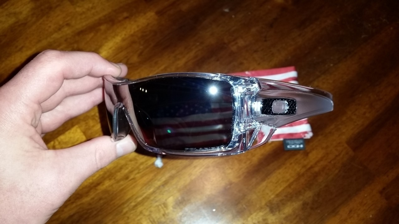 - Batwolf CUSTOM Polished Clear Frams - Chrome Iridium Polarized Lens