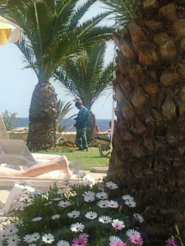Was on holiday, guy watering the plants lol.