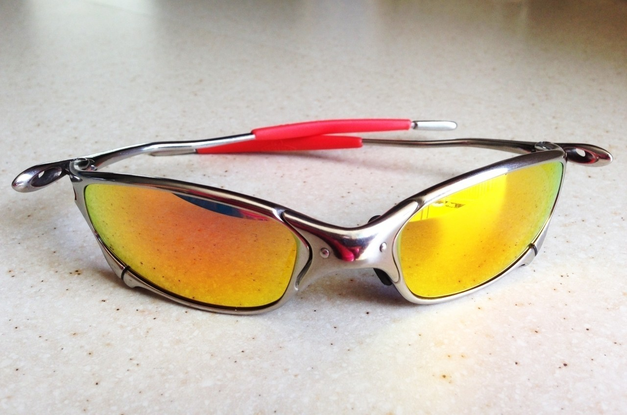OAKLEY JULIET / POLISHED - RUBY LENSES - Front View