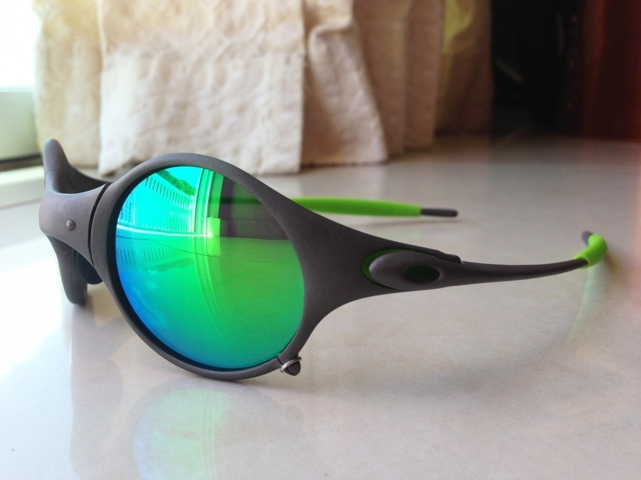OAKLEY MARS / X-METAL - ESMERALDINE POLARIZED LENSES