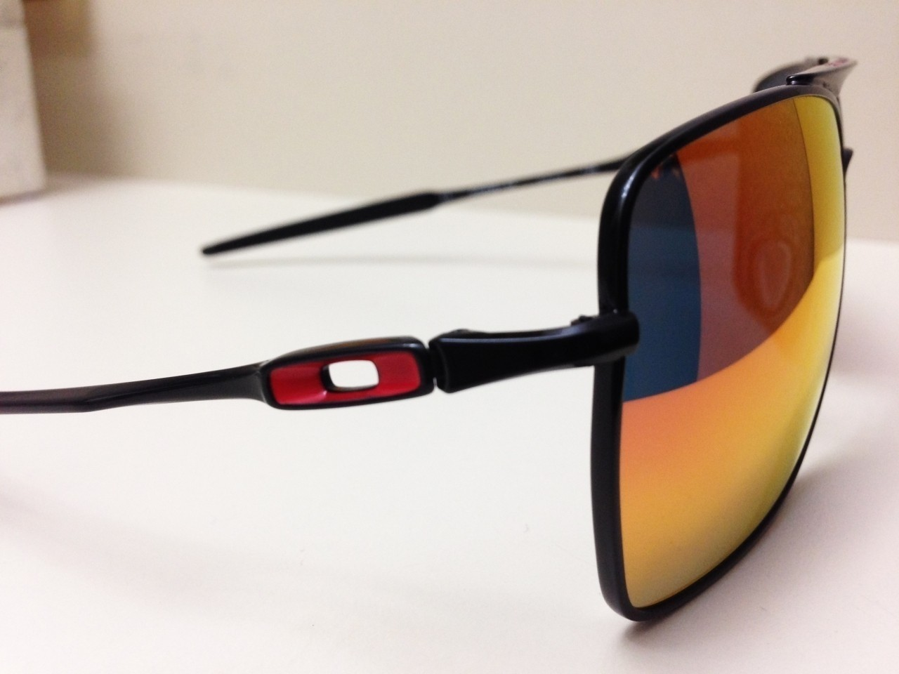 OAKLEY DEVIATION / POLISHED BLACK - RUBY IRIDIUM LENSES