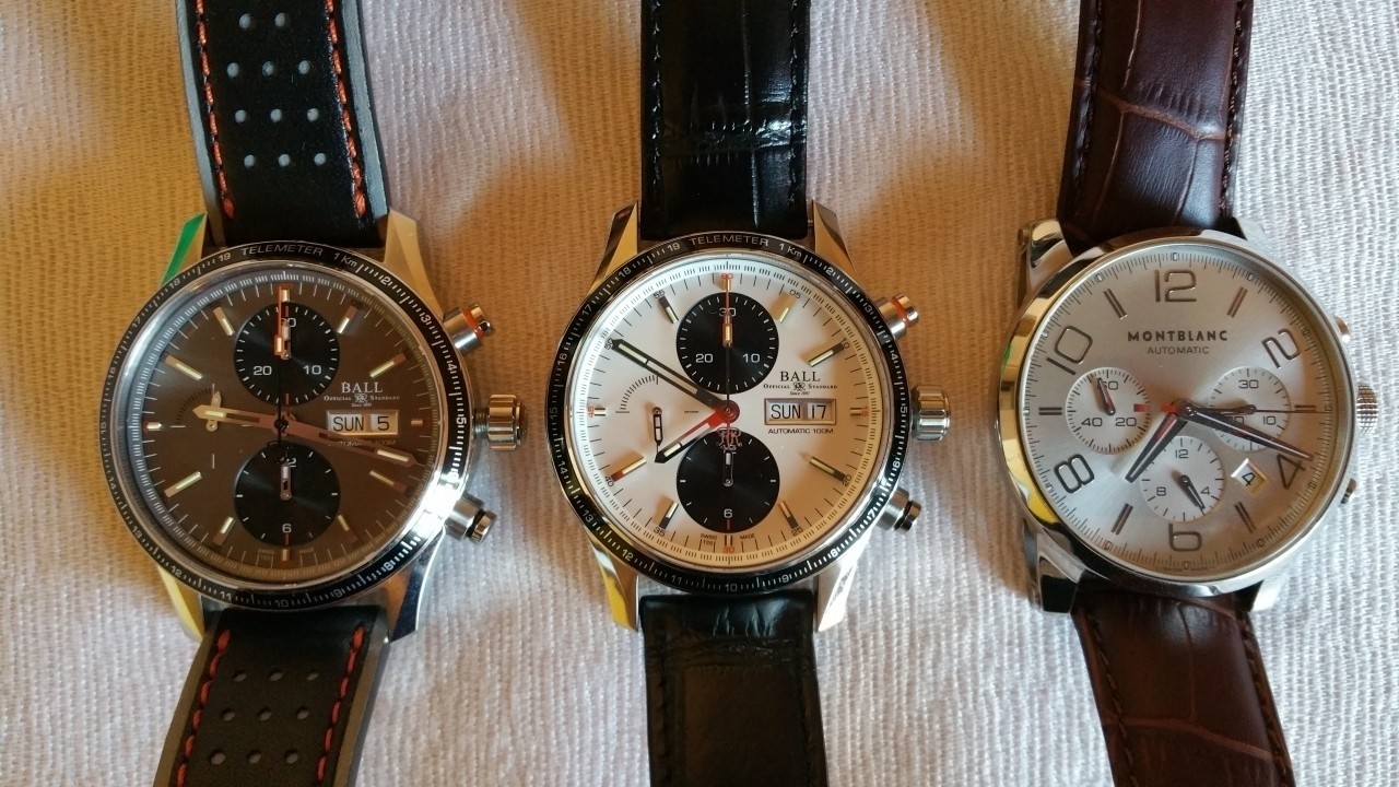 Ball Stormchaser/Mont Blanc TimeWalker Faces