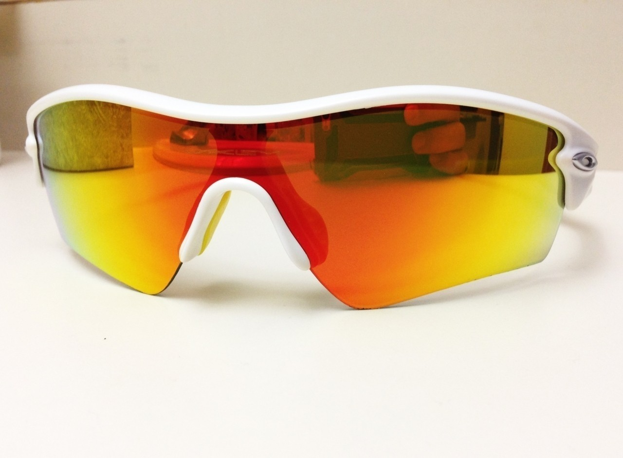 7f8ac91d702 OAKLEY RADAR PATH   MATTE WHITE - FIRE IRIDIUM LENS. Click on the photo to  start tagging. Done Tagging