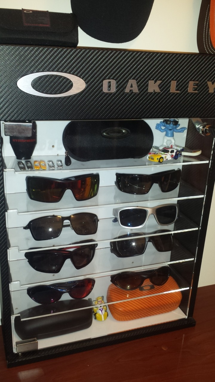 I have a small and basic oakley collection but just scored this display case for free from my...