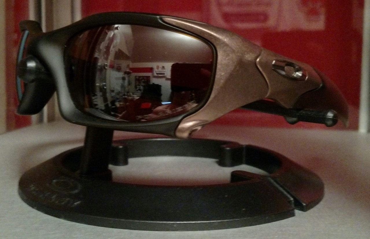 Matte Rootbeer frame with Tungsten Iridium Polarized lens.