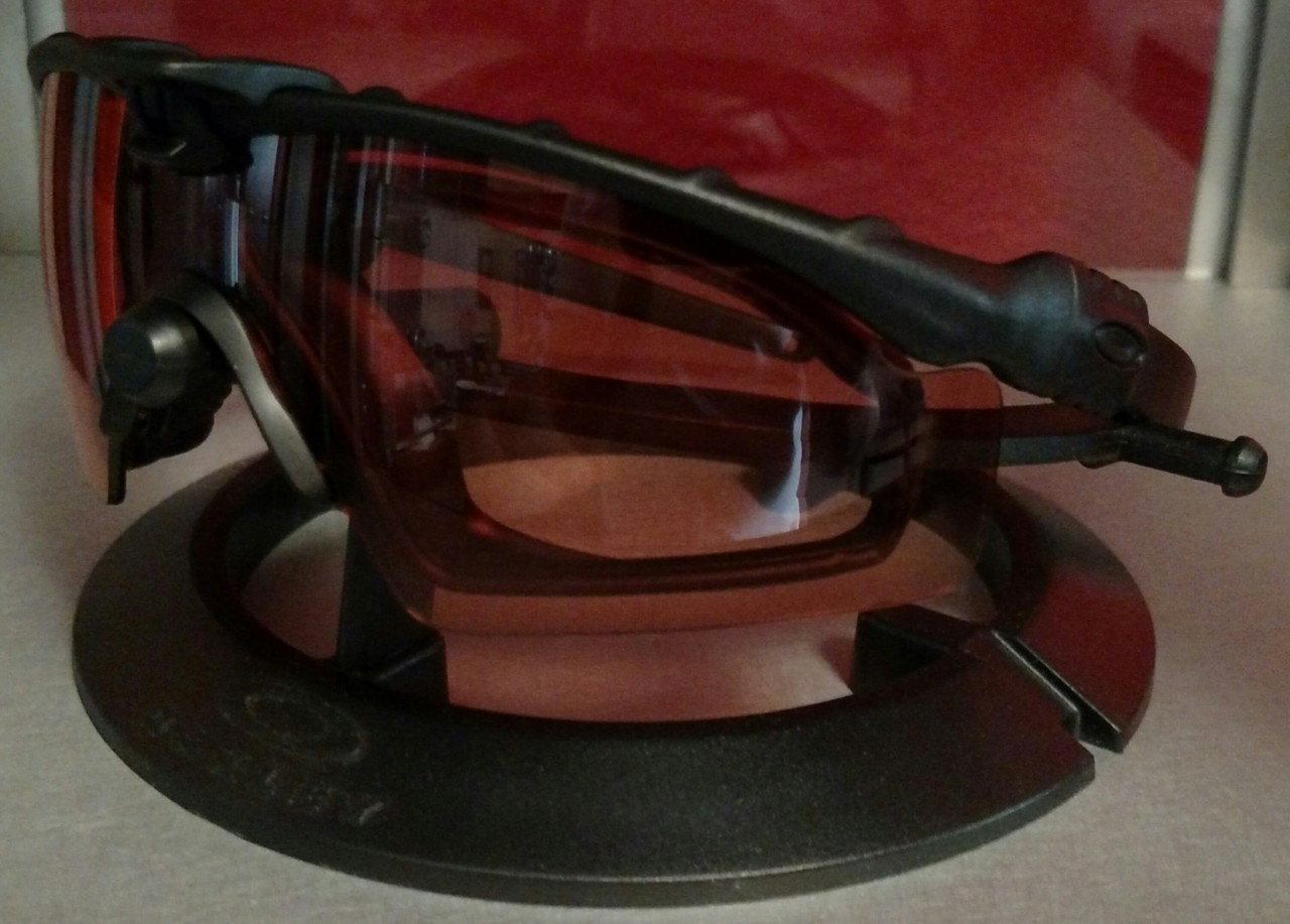 Matte Black frame with TR45 Strike lens with Helo Kit.