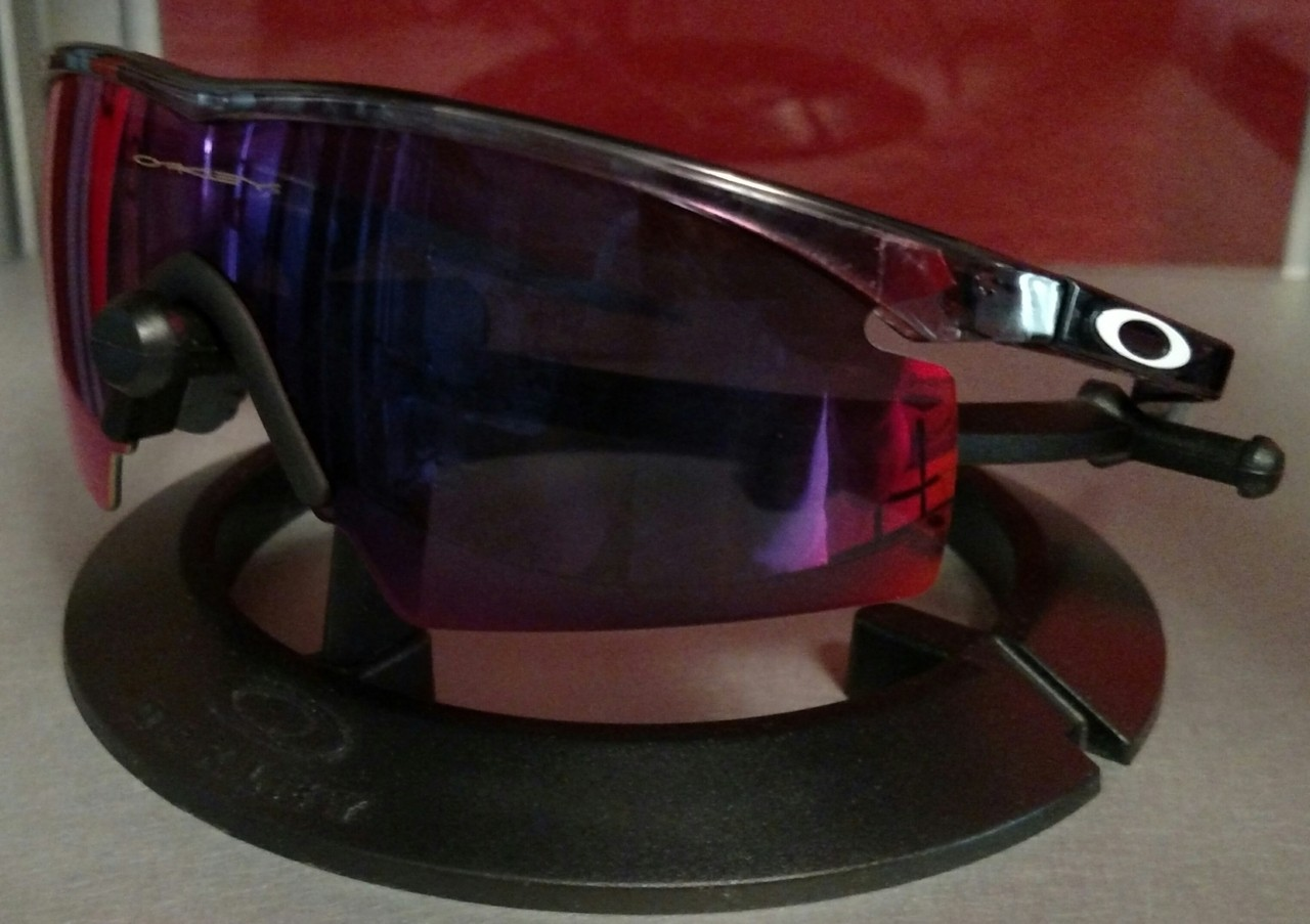 Crystal Black frame with +Red Iridium Strike lens.