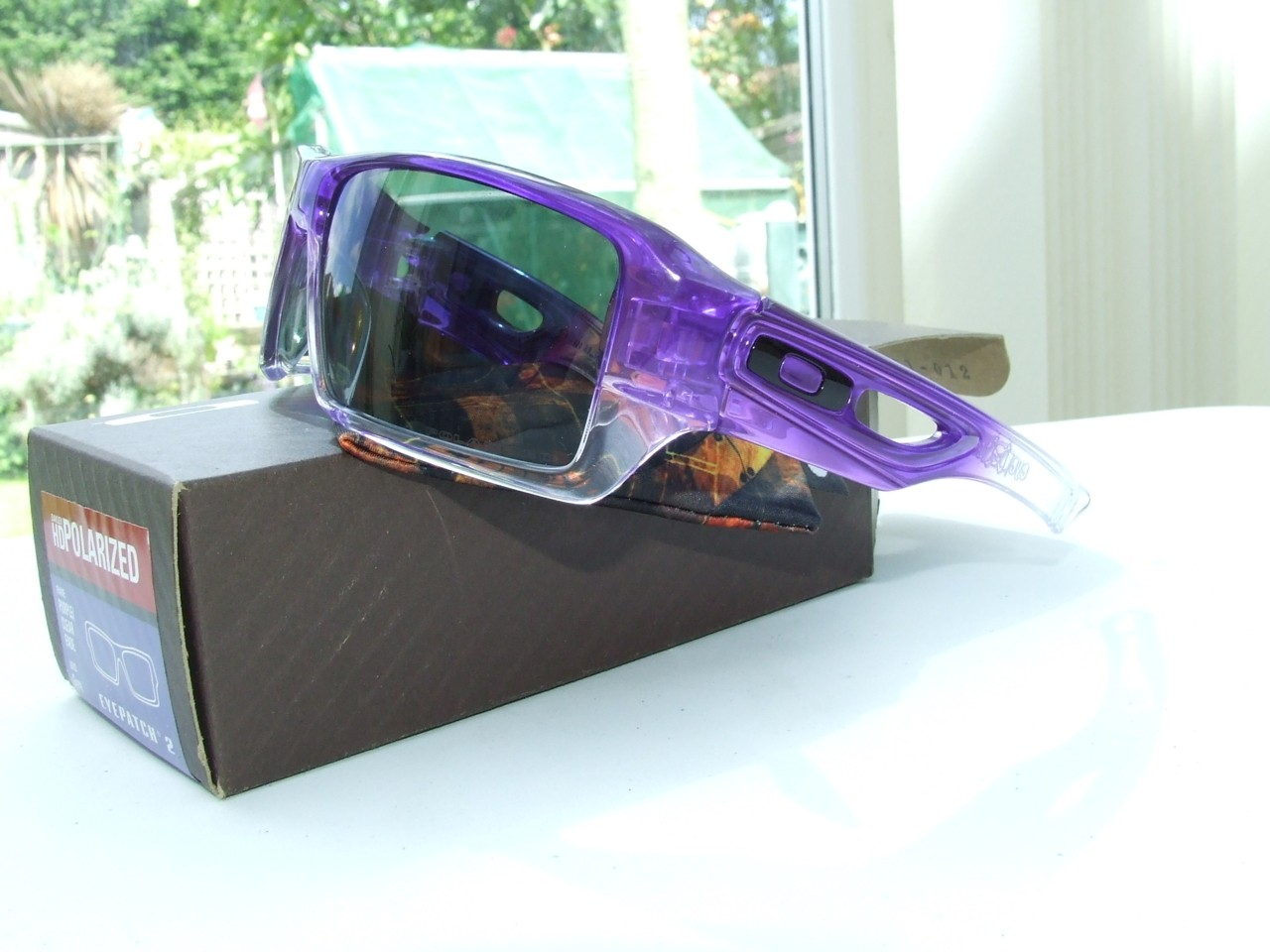 My Purple Clear Fade EyePatch 2.0s  side view
