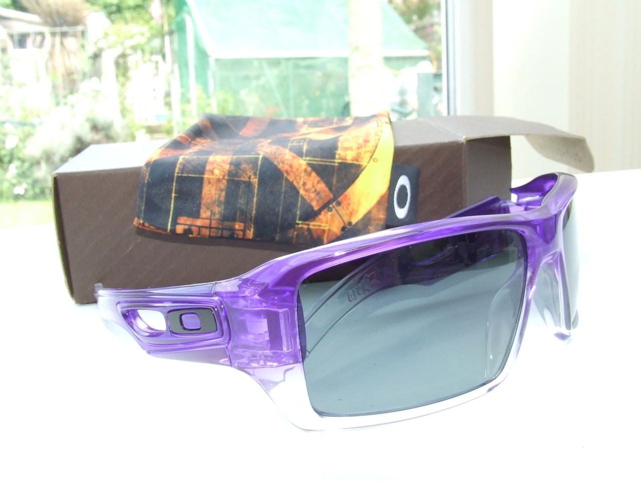 My Purple Clear Fade EyePatch 2.0s  with more light.