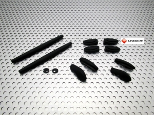 Juliet replacement Rubbers Set - Romeo 1 replacement Rubbers Set - Black