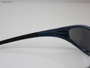 Oakley Straight 1.0 Blue Frame with Black Iridium Lenses