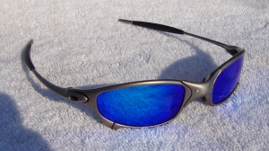 OAKLEY JULIET / PLASMA - ICE IRIDIUM POLARIZED LENSES - Front View