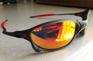 OAKLEY X-METAL XX / X-METAL - RUBY LENSES - Front/Left View