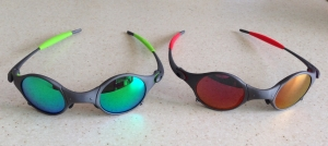 OAKLEY MARS / X-METAL - ESMERALDINE & RUBY POLARIZED LENSES