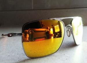 OAKLEY DEVIATION / POLISHED - FIRE IRIDIUM LENSES