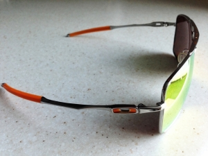OAKLEY DEVIATION / POLISHED - FIRE IRIDIUM LENSES - Side View