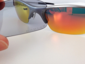 OAKLEY RAZRWIRE / MERCURY - FIRE / LIGHT GREY IRIDIUM LENSES - Lens View