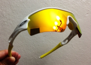 OAKLEY RADAR PATH / MATTE WHITE - FIRE IRIDIUM LENS