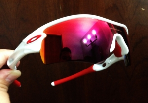 OAKLEY RADAR PATH / POLISHED WHITE - POLARIZED 00 RED IRIDIUM LENS
