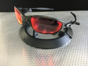 Juliet Carbon/Linegear Red Mirror polarized