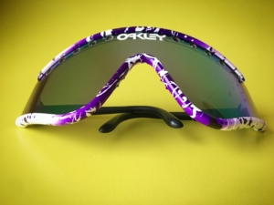 Purple Splatter Eyeshade with Violet