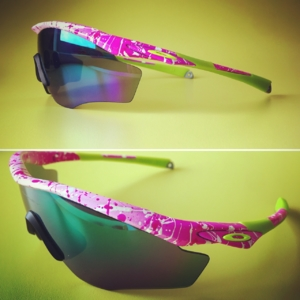 Hot Pink Splatter & Retina Burn M2 Frame with Jade