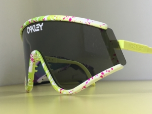 Key Lime Raspberry Coulis Splatter Eyeshade